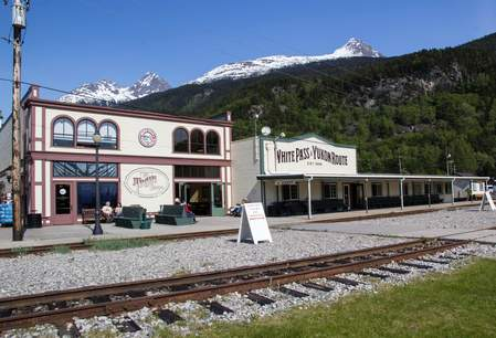 White Pass Rail Station in Skagway