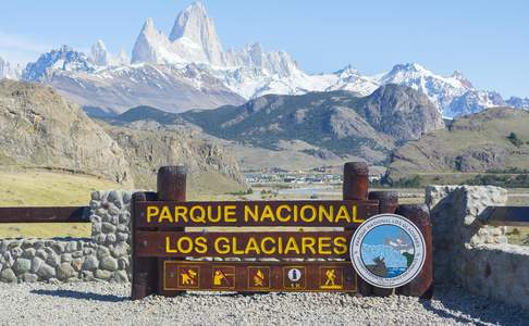 National Park Los Glaciares - Fitz Roy Mountains - Patagonia