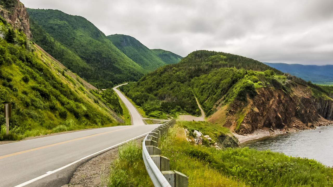 Cabot Trail in Cabot Breton Highlands National Park