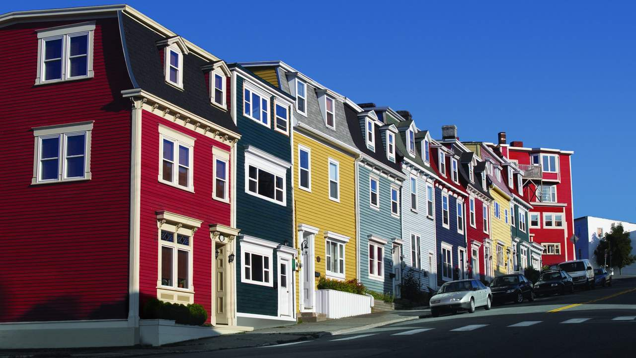 Jellybean Row Houses, St. John's