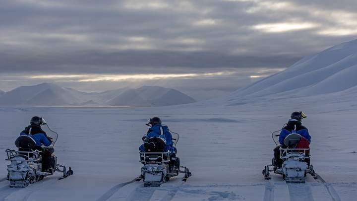 Spitsbergen in de winter