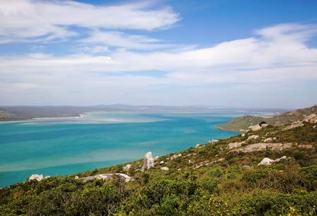 Langebaan Lagoon vanuit West Coast National Park